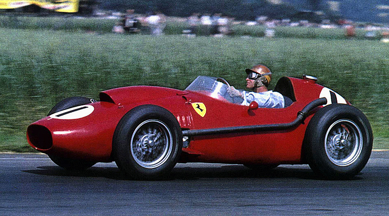 Peter Collins in Ferrari 246